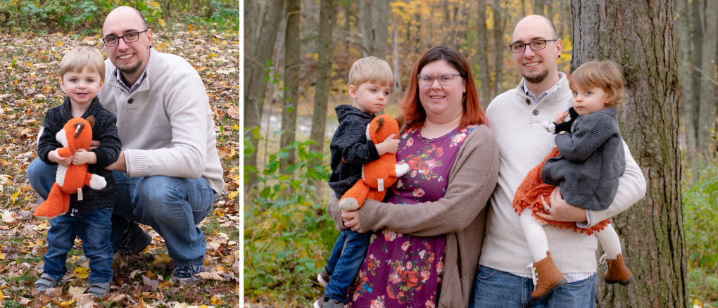 Family Session at North Wood County Park.